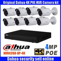 Dahua 8CH CCTV 1080P NVR4208 IP Camera System Kit With 8PCS DAHUA IPC HFW4421S 4MP Full