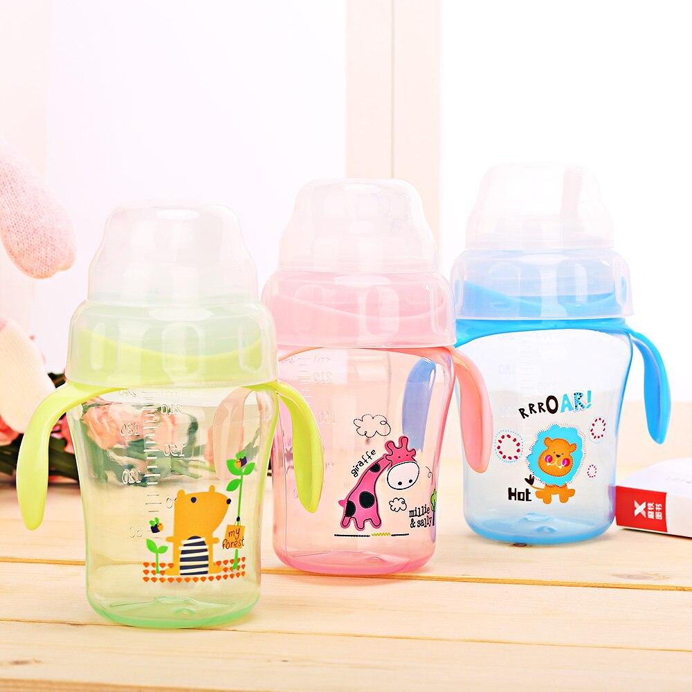 Biberones Para Beb/és de 240 ML Taza Para Bebidas de Entrenamiento En 360 Grados BPA Sin Fugas a Prueba de Fugas Copa para Ni/ños a Prueba de Fugas de 360 Grados Taza de Aprendizaje de Bebe Verde