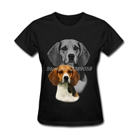 Women Retro T Shirts Summer Beagle Dog Clothing Luxury Brand Short Sleeve Woman T Shirt XL