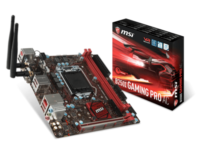 MSI B250I GAMING PRO AC Mini ITX with WIFI motherboard supports 7 generations of CPU ...