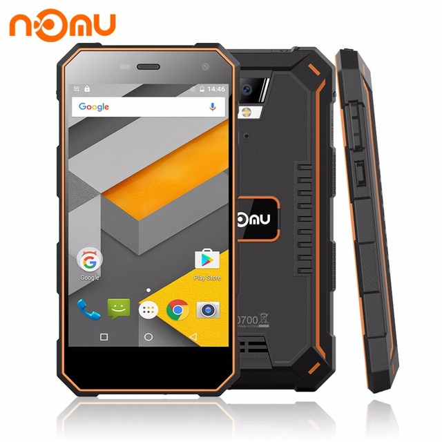 "NOMU S10 5.0"" HD Quad Core Smartphone 2GB RAM 16GB ROM MTK6737T Android 6.0 8.0MP 1280x720 5000mAh IP68 Waterproof Mobile Phone"
