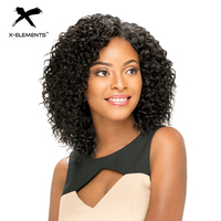X Elements Brazilian Curly Short Human Hair Wigs With Baby Hair H.ORA 6.75inch Non Remy Human Hair Wigs For Women