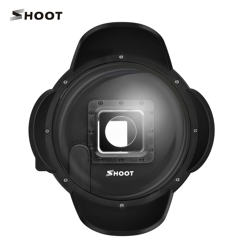 SHOOT 4 inch XTGP323 Dome Port with Sunshide cover Float Bobber Diving Swimming for Gopro Hero 4 black 3+ Go pro Accessories shoot 4 gopro hero 4 3 diving dome port for gopro hero 4 3 camera with float bobber and go pro accessories