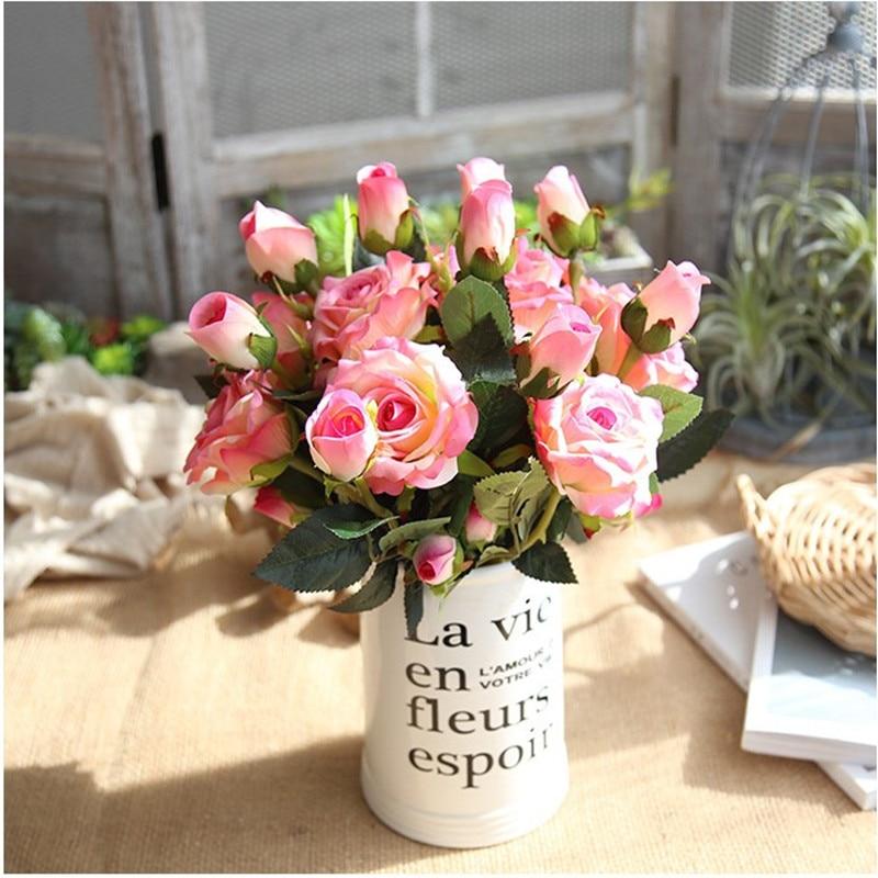 Acheter Fleur artificielle Livraison Gratuite Flanelle roses De Mariage produits de soie fleur de Artificielle et Fleurs Séchées fiable fournisseurs