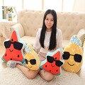40 cm-60 cm óculos de Fruta Melancia abacaxi Engraçado Brinquedos de Pelúcia Boneca Travesseiro Almofada Do Sofá carro Aniversário casamento Casa Pillowcushion