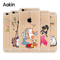 Aokin Lovely Funny Words Animals Juice Cat Printing Soft Silicon phone Case For iphone 5s SE 6 6S plus TPU mobile phone shell