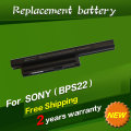 JIGU NO CD laptop battery BPS22 VGP-BPS22 VGP-BPL22 VGP-BPS22A VGP-BPS22/A notebook battery for SONY VAIO E series 5200mAh 11.1V