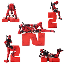Marvel Action Figure Deadpool 2 Funny Modeling PVC Figures T