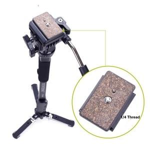 Image 4 - Yunteng 288 Camera Monopod Tripod + Fluid Pan Head Ballhead + Unipod Holder Base Stand for Ditigal Camera DSLR Smartphone Clip