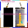 """Preto 5.0 """"para fly iq4511 tornado um telefone completo screen display lcd com tela de toque digitador montagem completa do código de rastreamento"""