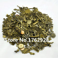 Free Shipping 100g (40~70pcs) Random Mix Styles  Assorted  Charms Pendants Beads Metal Alloy  Antique Bronze Diy Bead