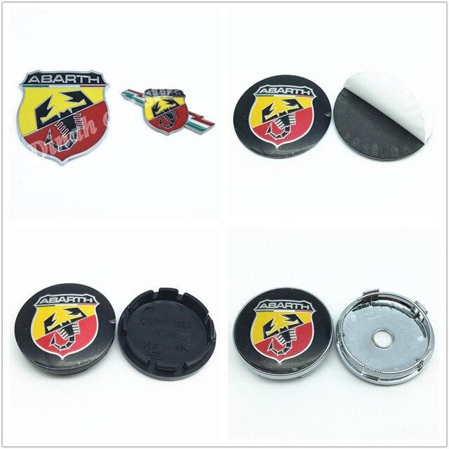 ABARTH car Wheel Center Hub Cap Badge auto Side Fender logo Rear Trunk sticker emblem For FIATS 124 125 125 500 695 OT2000 Coupe