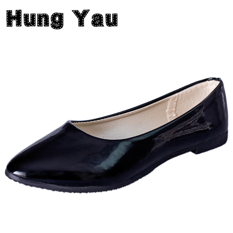 Hung Yau Women Flats Candy Color Shoes Woman Loafers Spring Autumn Soft Flat Casual Shoes Women Zapatos Mujer Plus Size 35-41 hung yau women oxfords flats casual platform black shoes woman spring summer style fashion women lace up flat shoes size us 8