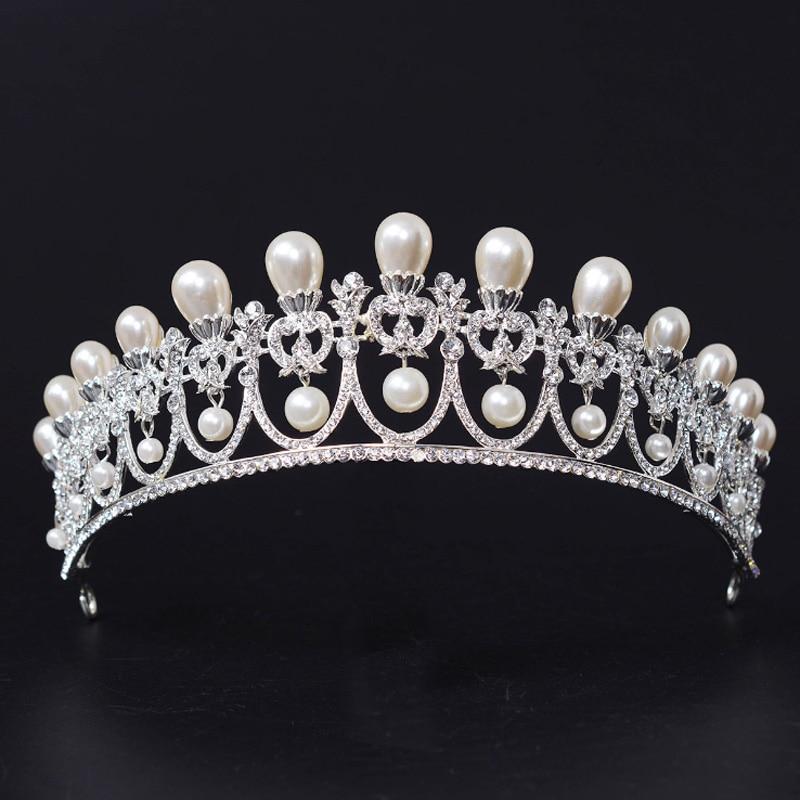 Boda de lujo pelo joyas tiara diademas diadema peine cristal claro plata