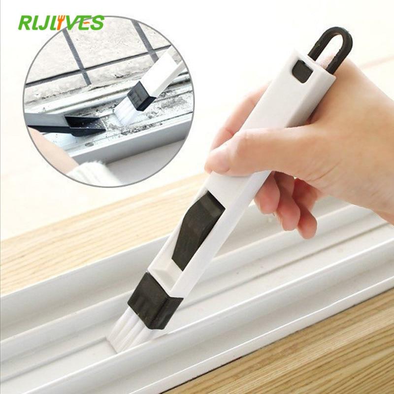 Limpador de janela multiuso 2 em 1, escova para limpar janelas, ferramenta de limpeza para teclado doméstico e cozinha dobrável
