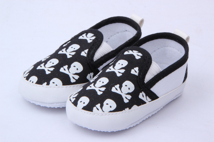 Stylish Skull Color Baby Animal Skulls Shoes Toddler Infant First Walkers 3 Colors