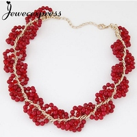 Jewecexpress Fashion red fruits hot short Necklace