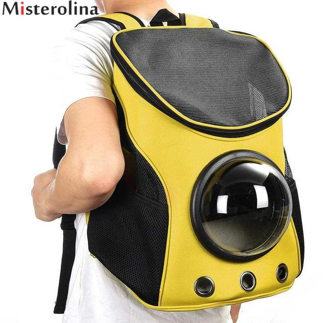 032340c5cc Space Cabin Pet Carrier Breathable Capsule Pet Space Bag Cat   Dog Travel  Backpack Outdoor Pet