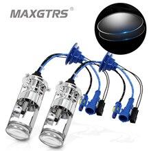 2×55 Вт H4 LHD Биксеноновые лампы без потерь Здравствуйте D лампа Здравствуйте/Lo луч фары с двойной мини-объектив проектора 4300 К 5500 К 6000 К