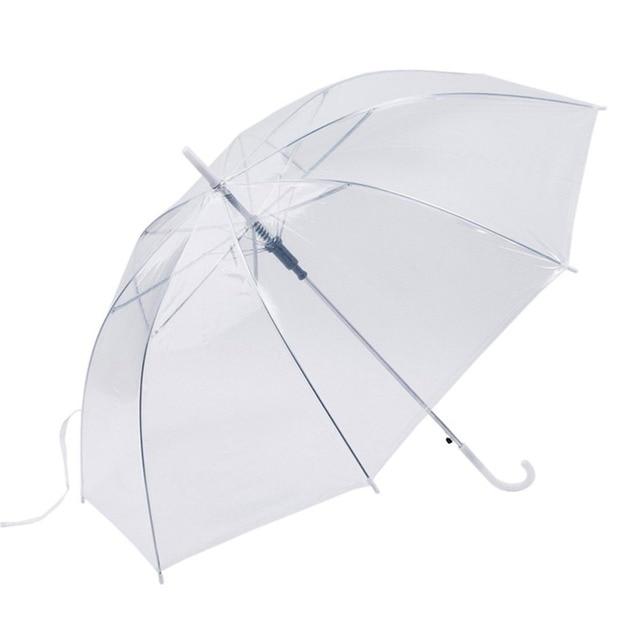 Ветрозащитный мода прозрачный автоматический зонтик для сувенир для свадебной вечеринки стенд наизнанку защита от дождя