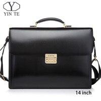 YINTE Men Leather Bag Laptop Briefcase Messenger Lawyer Office Bags for Men Case Portfolio T8158 5