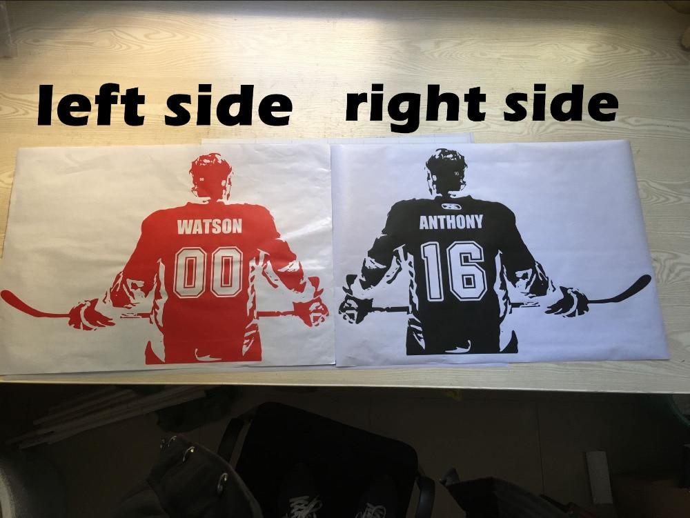 Lojtari hokej Artikujt Wall Decal Zgjidhni numrin e emrit Dekor në - Dekor në shtëpi - Foto 3