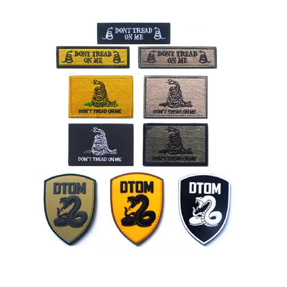 3pcs/lot 3D embroidery patches Hook & Loop DOTM Don't step on my - Arts, Crafts and Sewing