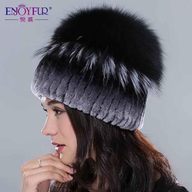 Rusia sombrero de piel para las mujeres de invierno de piel de conejo rex  sombrero con 47794bf930c