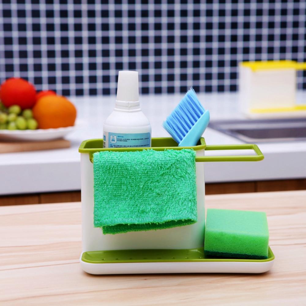 Soap Sponge Drain Rack Kitchen Sink Storage Box Holder Dish Drying ...