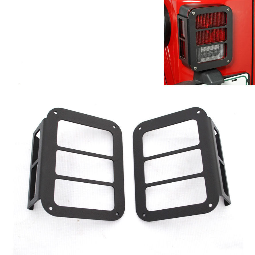 BBQ@FUKA 2pcs Auto Car Black Rear Light Lamp Cover Taillight Guards Fit For JEEP Wrangler JK 07 -2015 пазл 73 5 x 48 8 1000 элементов printio лето клод моне