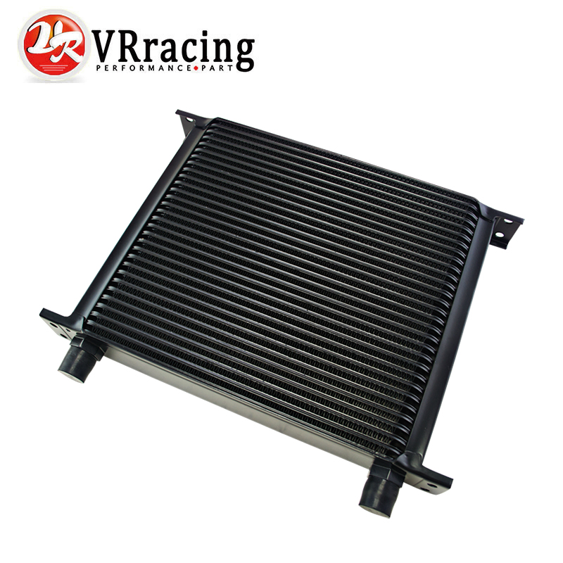 VR RACING - BLACK 30 ROW AN-10AN UNIVERSAL ENGINE TRANSMISSION OIL COOLER VR7030-2BK vr racing 16 row an 10an universal engine transmission oil cooler vr7016 2