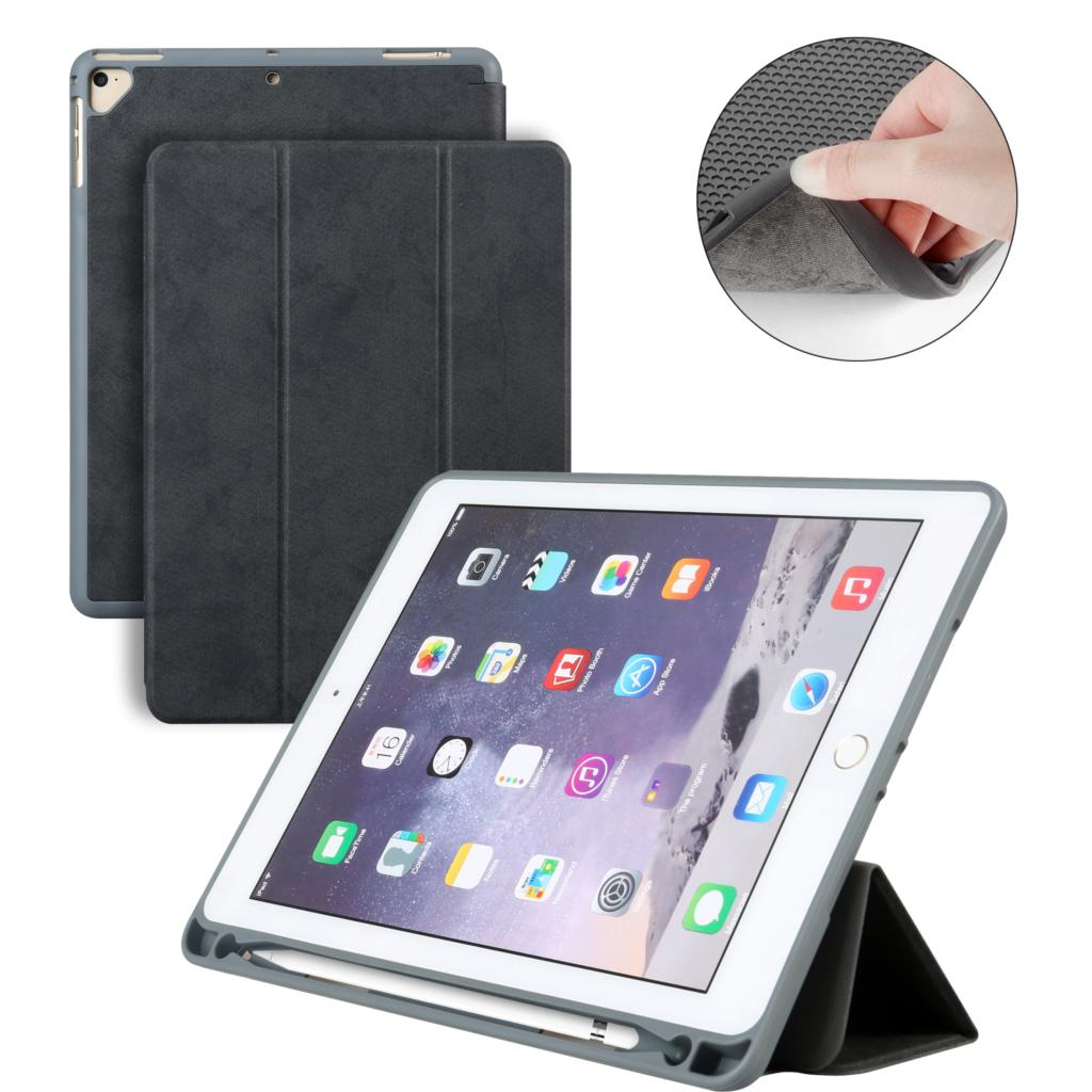 Case with Pencil Holder For New iPad 9.7 2017 2018 A1893 A1954 , PU Leather Smart Stand Cover For ipad case Auto Sleep Wake for apple ipad pro 10 5 case 2017 new pu leather slim smart cover w pencil holder wake sleep function for ipad pro 10 5 case