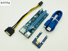 Mini PCIe PCI-E PCI Express Riser Card to PCIE Extender 16X SATA to 6Pin IDE Molex Power Cable for BTC ETH Litecoin Miner Mining(China)