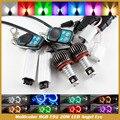 H8 E92 Глаза Ангела Света RGB LED 40 Вт H8 для E60 E61 E63 E70 X5 E71 X6 E90 E91 E92 M3 Многоцветный RGB Глаза Ангела света