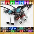 H8 E92 Angel Eye Light RGB LED 40 W H8 de E60 E61 E63 E70 X5 X6 E71 E90 E91 E92 M3 Multicolor RGB Angel Eyes luz