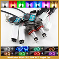 H8 E92 Angel Eye Luz LED RGB 40 W H8 para E60 E61 E63 X5 E70 X6 E71 E90 E91 E92 M3 Multicolor RGB Olhos de Anjo de luz