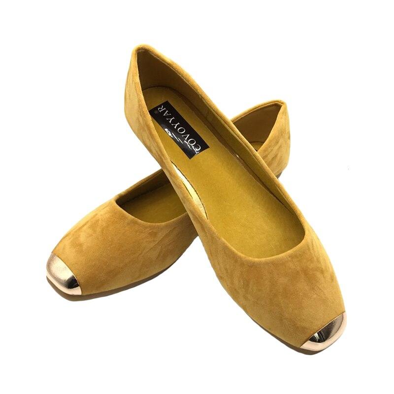 jaune Flock Mode Automne 34 bleu Femme Chaussures Sur Printemps Casual 43 2019 Mocassins Wfs669 Slip Bout Tailles Covoyyar Métal Carré Noir Grandes Plat w8xBqT4vz