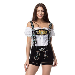 Image 1 - Carnaval October Festival Oktoberfest Girl Bar Uniforms Lederhosen Bavarian German Wench Costumes Beer Maid Cosplay Outfit
