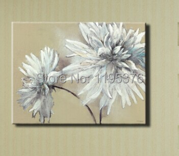 Hand painted white flowers oil painting on canvas decorated in home hand painted white flowers oil painting on canvas decorated in homeofficehotel 1pc mightylinksfo
