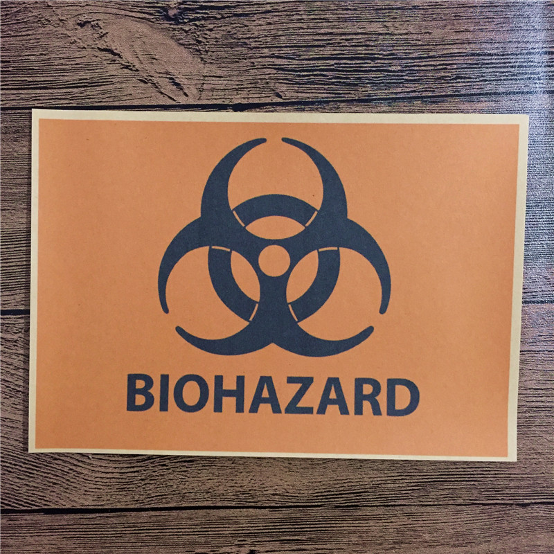 High quality KLT-171 back to the future kraft paper BIOHAZARDwall art Vintage poster pictures home decor for bathroom 42x30cm