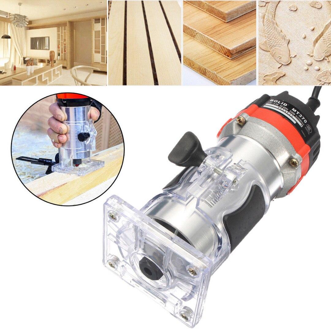 DWZ 220 V 35000 RPM 530 W 1/4 ''tondeuse à main électrique bois laminateur routeur outil ensemble