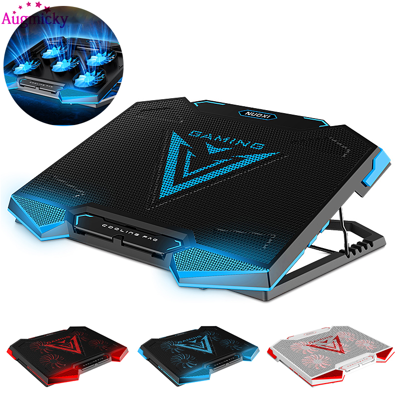 2018 New Notebook PC Cooler Laptop Cooling Pad Stand Air Cooled 5 Fans USB Ergonomics Adjustable Holder for 12 17 inch Laptop