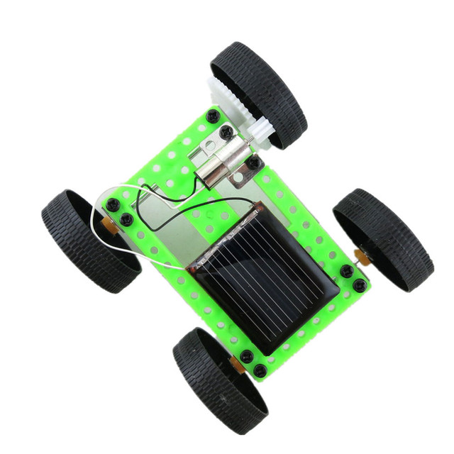Toys for children 1 Set Mini Solar Powered Toy  Car DIY ABS Kit Child Educational Funny Gadget Hobby Gift DropShipping 3