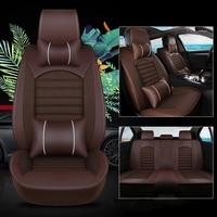 kalaisike Leather plus Flax Universal Car Seat covers for Buick Excelle Enclave GL6 VELITE 5 envision Avenue GL8 Encore Park