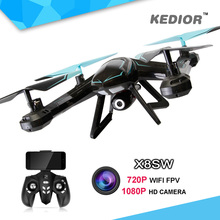 X8SW Fpv Wifi Ufo font b Drone b font with Camera HD Rc Quad copter 2