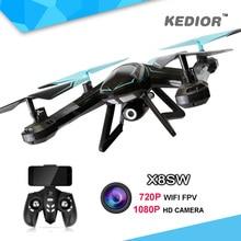 X8SW Fpv Wifi Ufo font b Drone b font with Camera HD Rc Quad copter 2
