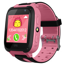 Children's Smart Watch W08 Anti Lost Child Tracker SOS Smart Monitoring Positioning Phone Kids Baby Watch Compatible IOS Android(China)