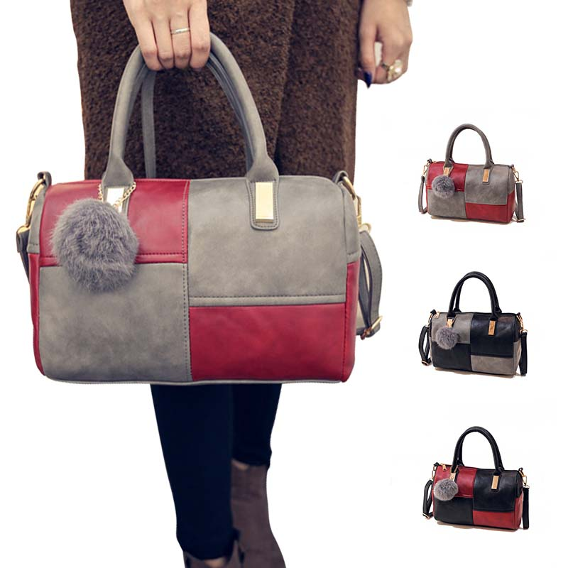 Women Handbag Barrel-Shaped Tote-Satchel Shoulder-Bag Crossbody Fashion Lady Feminina