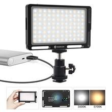 Moman מיני 4.5 אינץ במצלמת LED וידאו אור עם מגנטי בחזרה דו צבע 3000 K 6500 K CRI96 + צילומי תאורה