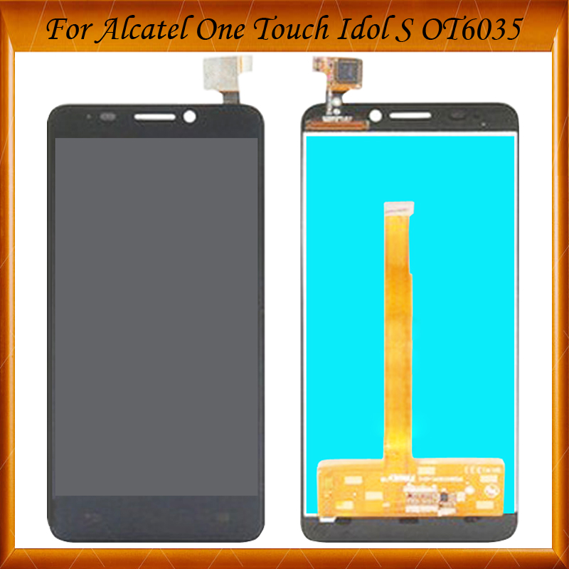 100% Working Well For <font><b>Alcatel</b></font> One Touch Idol S 6035 OT6035 <font><b>6035R</b></font> 6035Y LCD Display Screen With Touch Screen Digitizer Assembly image